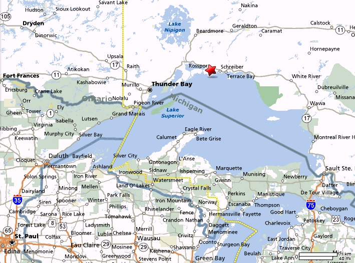 rossport map
